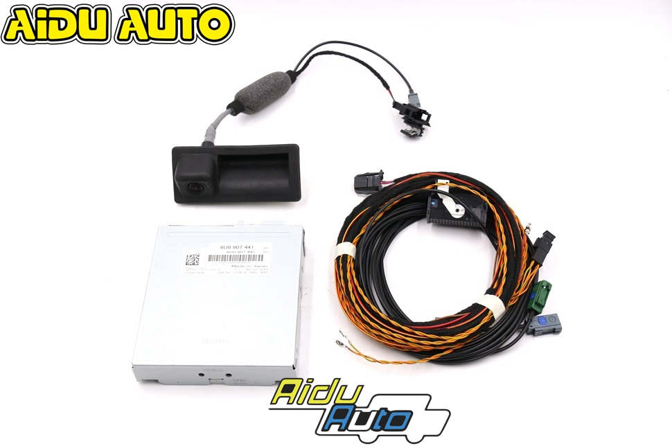 AIDUAUTO For <font><b>Audi</b></font> <font><b>Q3</b></font> Guidance Line Reversing <font><b>Camera</b></font> RVC Rear <font><b>Camera</b></font> 8U0 907 441 & 5N0 827 566 AA image