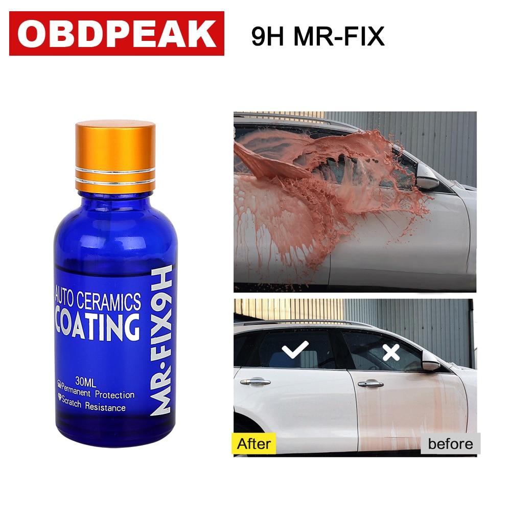 Heißer Verkauf 30 ml 9 H Auto härte super hydrophoben Glas Beschichtung Auto Flüssigkeit keramik Mantel Autolack Pflege Haltbarkeit