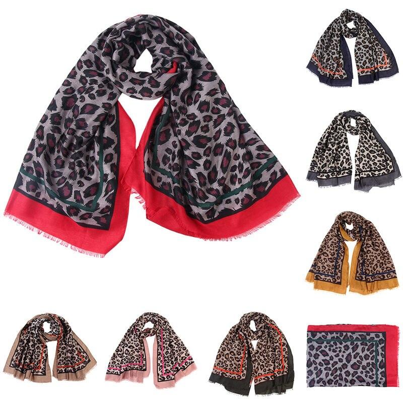 Women Ladies Leopard Print   Scarf     Wrap   Shawls Headband Soft Shawl Long women's   scarves   handkerchief hijab   scarf   40FE27