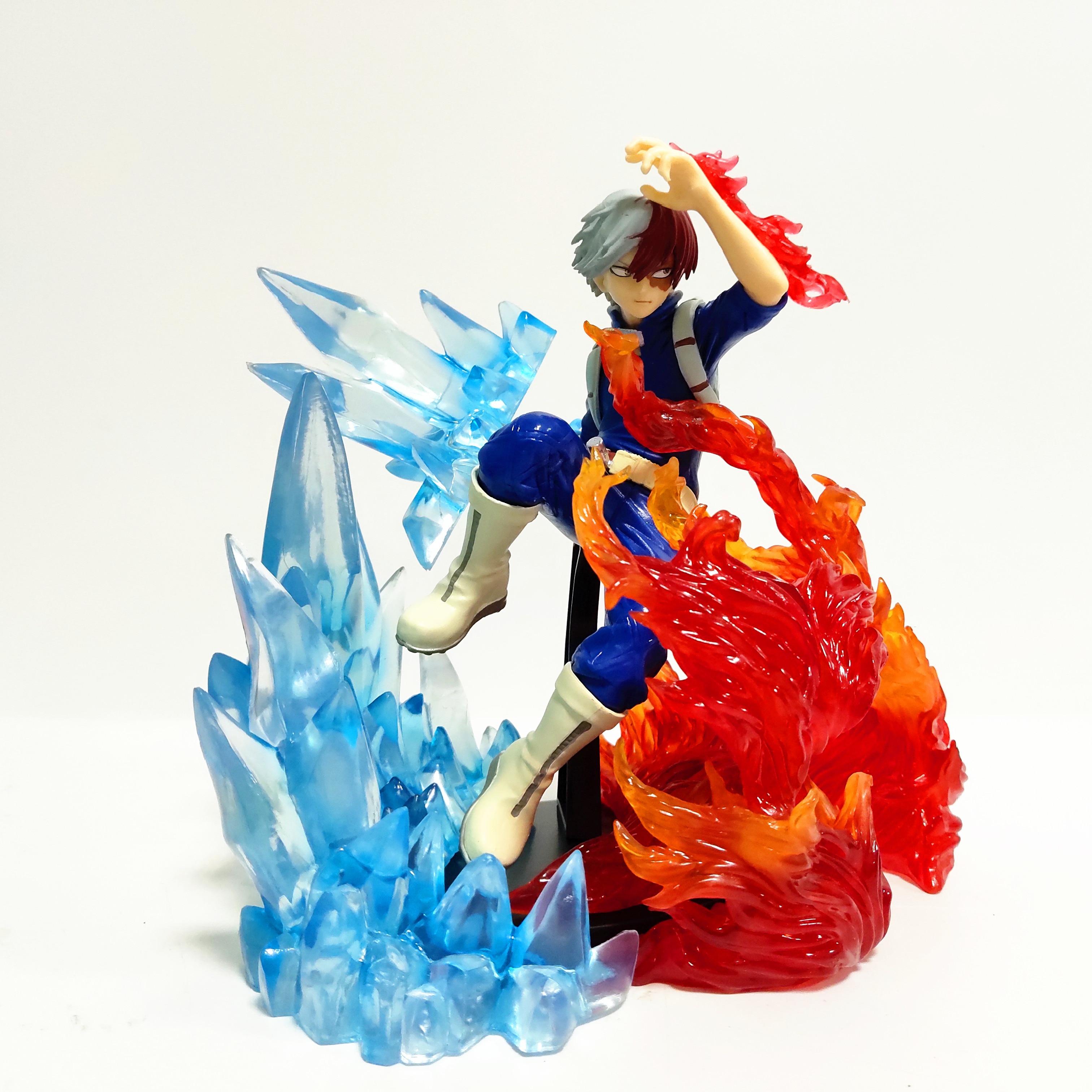 meu heroi academia todoroki shoto pvc figura de acao brinquedos gelo fogo efeito anime boku nenhum