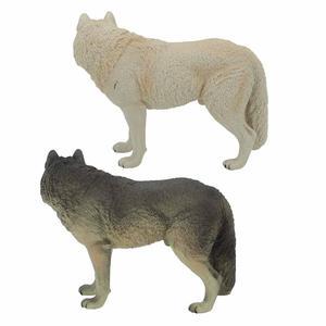 Image 2 - Büyük Kurt Heykeli Heykelcik Oyuncak PVC Yaban Hayatı Hayvan Modeli Aksiyon Figürleri Çocuklar için Playset Eğitim Koleksiyon Hediye