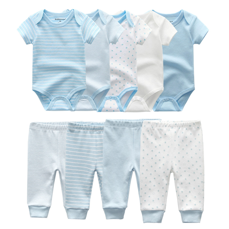 2019 Solid Bodysuits+Pants Baby Boy Clothes Clothing Sets 0 12M Baby Girl Clothes Unisex Newborn Girls Baby Cotton Roupa de bebe-in Clothing Sets from Mother & Kids