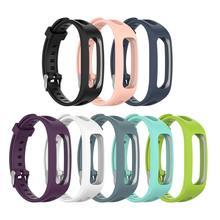 Цветной сменный силиконовый ремешок для часов huawei Band 3e huawei Honor Band 4 версия для бега