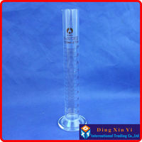 2 Pieces Lot 100ml Glass Measuring Cylinder Graduated Cylinder Measuring Graduates Glass Graduate