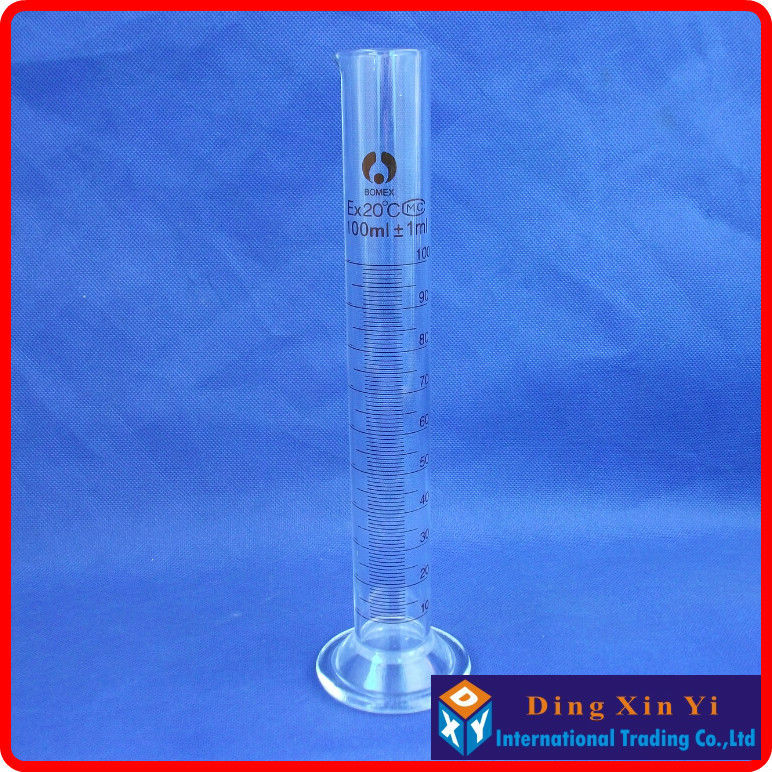 (2 pieces/lot)100ml glass measuring cylinder graduated cylinder,measuring graduates glass graduate