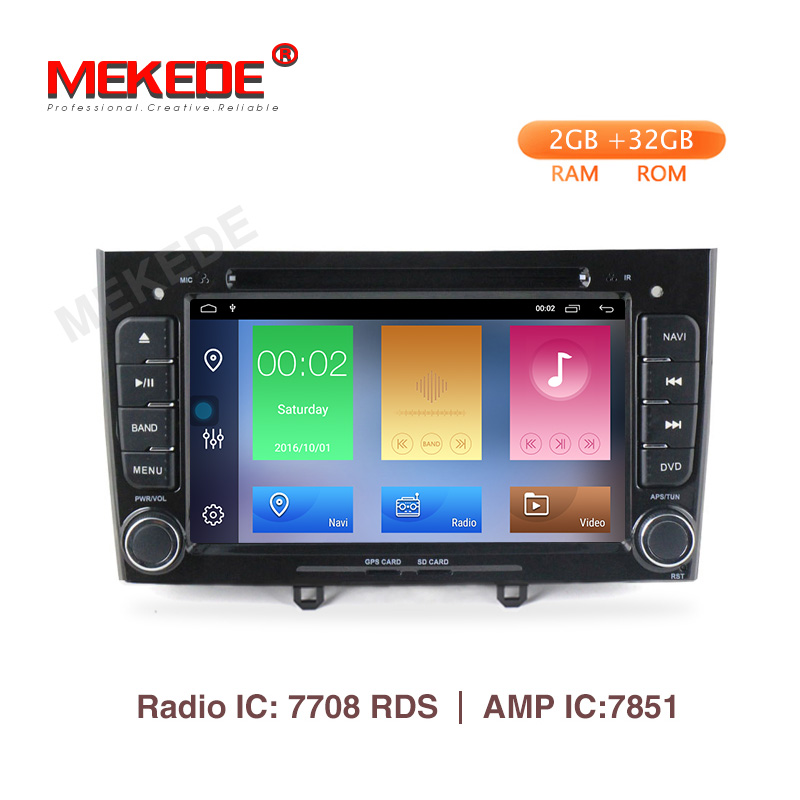 Mekede 2G 32G android9 1 car dvd player for PEUGEOT 308 2007 2013 408 2011 2014