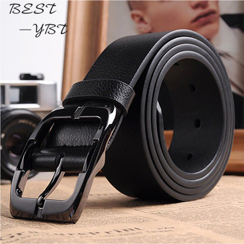 New Designer Belts Men High Quality Luxury Brand Leather Belt Pin Buckle Black Business Trouser Strap Cinturones Hombre Cinto