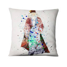 Watercolor Illustration Printed Pillowcase Thin Linen Cushion Decorative Pillow Home Decor Sofa Throw Pillow