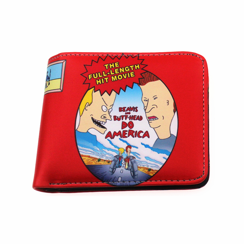 Beavis Butt-head America Wallet Short Hand Takes B&B Coco Film Movie Purse Designer Coin Purse Zipper