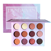 HANDAIYAN New Arrival 12 Color Eyeshadow Pallete Glitter Makeup Matte Eye shadow Powder Make up Palette Women Cosmetic Gift Set