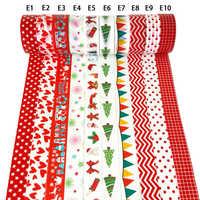 8/10 uds/set Washi Tape Scrapbooking Cintas Adhesivas Decoracion papel de enmascarar verde Cute Navidad Kawaii