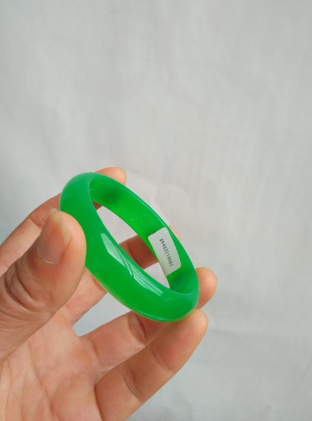 53-62mm/photo physique naturel Birmanie pierre vert tout vert bracelet épinards vert bracelet/certificat d'évaluation cadeau boîtes/