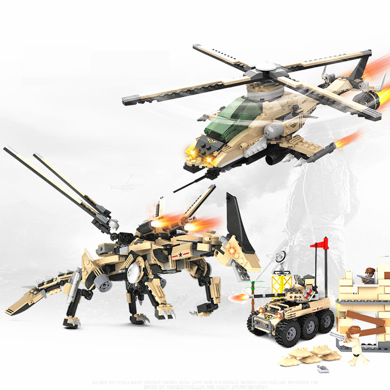 612pcs Armored Helicopter Deformation Tank robot Dinosaur Transformation toy 2 In 1 building blocks educational toys for kids nitrogen transformation in vertisol under soybean wheat system