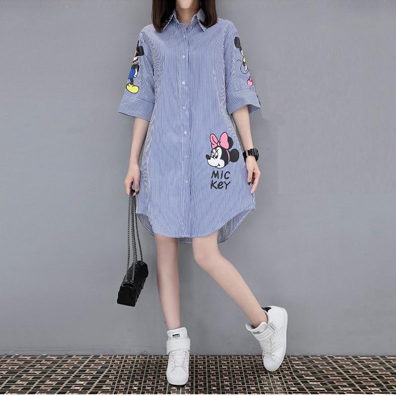 Women 2019 Summer Short-sleeved Loose Print Dress Femme Fashion Leisure Round Collar Miniskirt Plus Size 5xl Mini Dress Vestido