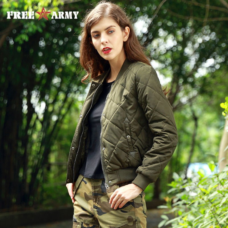 FREEARMY Winter Jacket Women s Coat Female Cotton Padded Bomber Lady Military Army Casual Jacket Winter