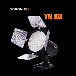 Yongnuo YN168 LED Video Light 168LEDs Illumination lamp Camcorder with 4color plate for Canon Nikon DSLR Camera
