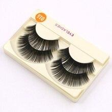 2Pair Natural Soft Mink Eye Lashes Professional Luxury Makeup Handmade Lashes Thick Fake False Eyelashes Extension Beauty  D15