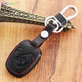 Cars Keys Case Genuine Leather Key Cover For Honda Accord CRV Fit CIVIC ODYSSEY City 3 Buttons Car Key Auto Accessories Hot Sale