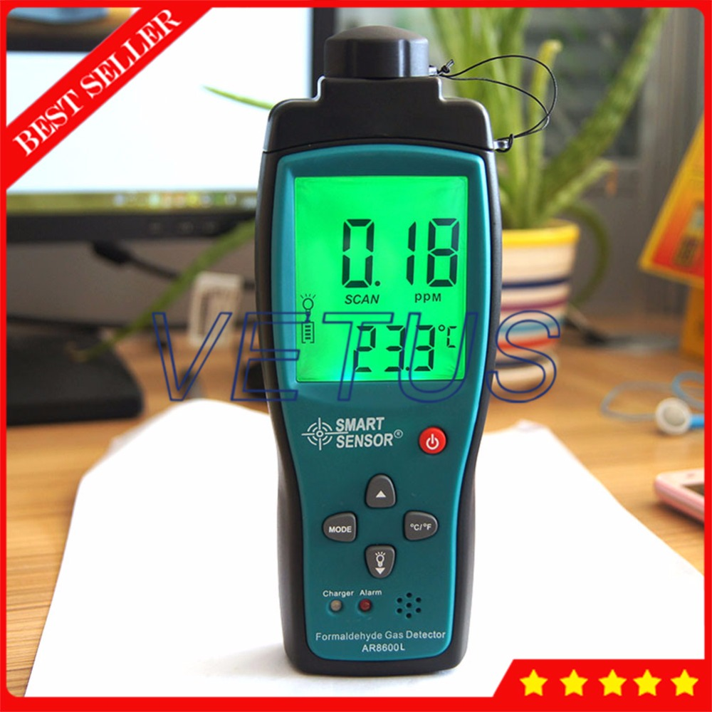 AR8600L Large LCD Display HCHO Analyzer Professional Portable formaldehyde meter detector Sound Light Alarm function