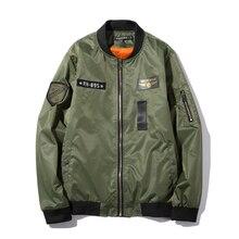 Militärjacke Männer 2017 Frühjahr Neue Mode Lässig Männer Bomber jacke MA-1 Stil Armee Luftwaffe Jacken und Mäntel Chaqueta 5XL