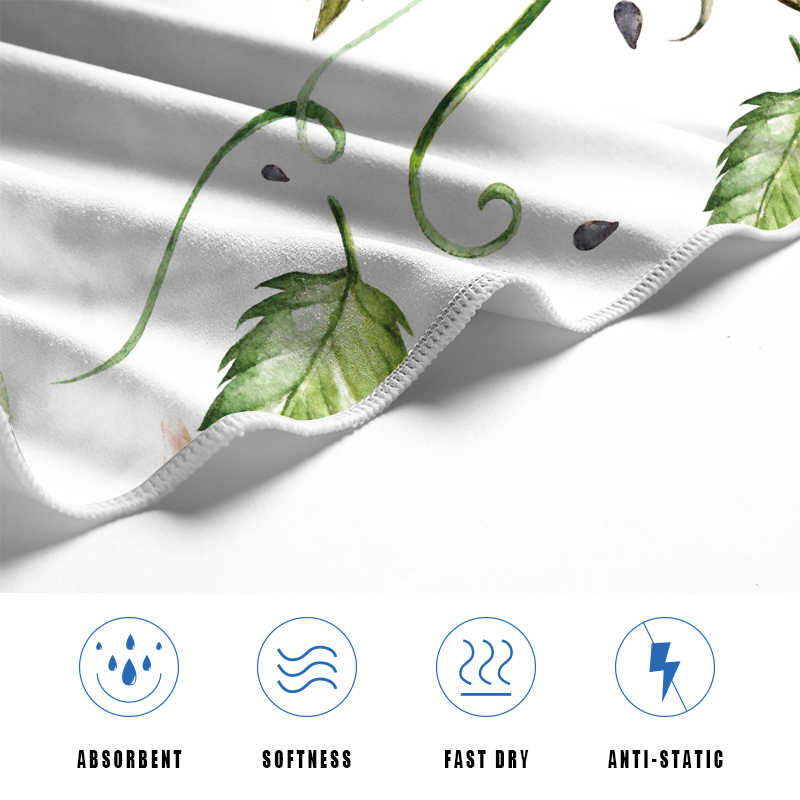 Microfine マイクロファイバー大型ビーチタオル高級花柄速乾性ショール女の子バスタオル旅行用品 70 × 140 センチメートル
