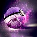 Hy nova arrivels mewtwo pokemon monstro de bolso 3d bola de cristal 7 cores rotação 3d luz da noite levou mesa lâmpada de mesa