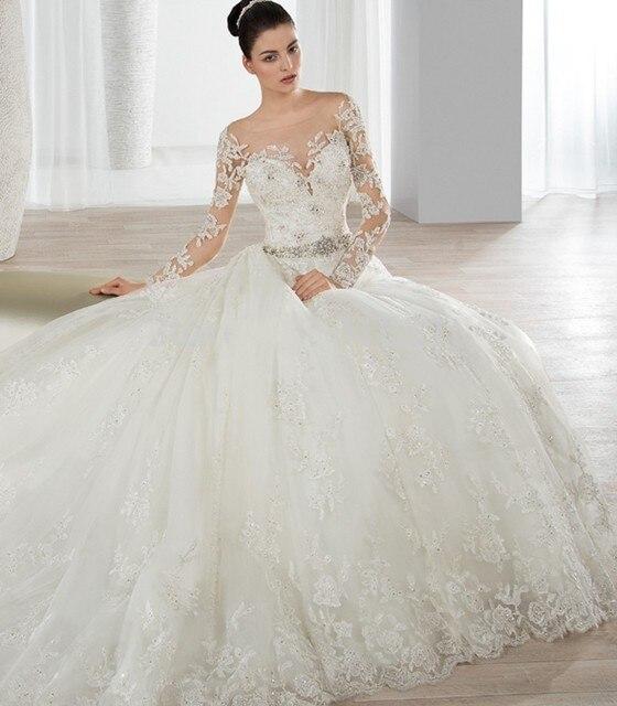 Vestido de noiva Gelinlik Durchsichtig Zurück Spitze Hochzeitskleid ...