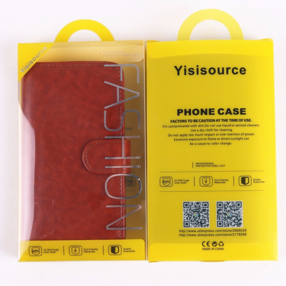 Yisisource Case for Oukitel C4 Cover Luxury Wallet Flip PU Leather Crazy House Phone Bag for Oukitel C4 with Holder Card Slot