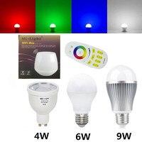 Dimmable Milight Led Lamp Wifi Controller GU10 E27 4W 6W 9W Led Light Bulb Mi Light