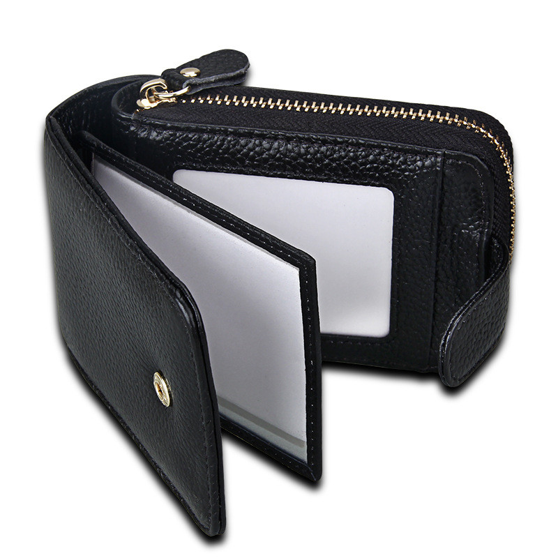 FSINNLV New Genuine Leather ID Card Holder Driver License Holder Unisex Credit Card Holder Business Card Wallet Coin Purse HB154 new cowhide leather men middle long wallets black color credit card holder driver s license passport pocket coin purse id wallet