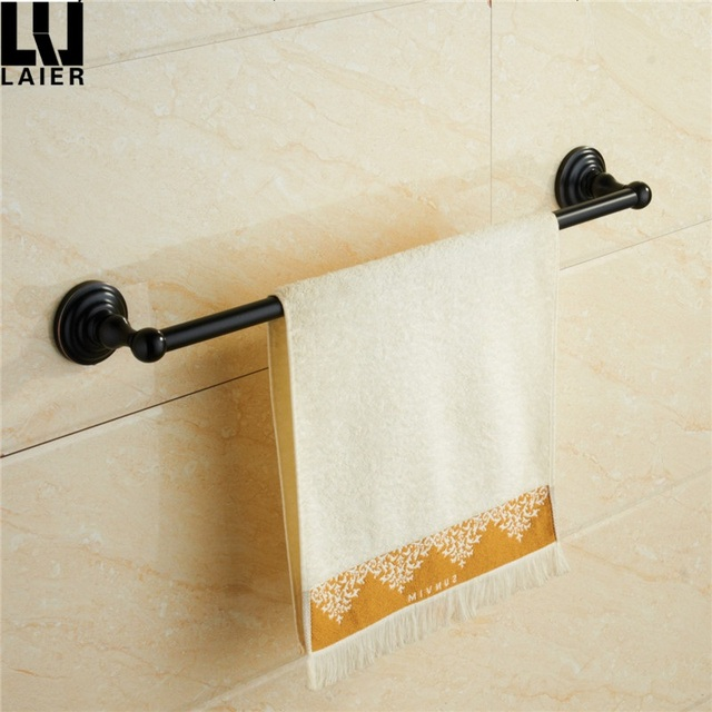 Canada Towel Bar Towel Rod Black Chrome Polished Round Bathroom