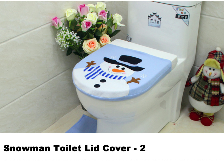 Christmas Decorations for Home Santa Claus Toilet Lid Cover