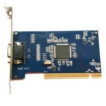 8-канальный hd d1 В Реальном Времени видеонаблюдения dvr PCI Карты Видеозахвата 4-канальный Аудио выход VGA кабель