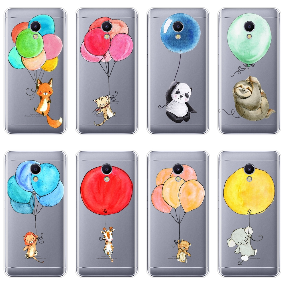 Phone Case For <font><b>Meizu</b></font> M6 M6S M6T M5 M5C M5S M3 <font><b>M3S</b></font> M2 Cat Bear Fox Panda Lion Silicone Soft <font><b>Back</b></font> <font><b>Cover</b></font> For <font><b>Meizu</b></font> M6 M5 M3 M2 Note image