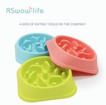 190g Dog Bowl Plastic Anti-mite Healthy Food Pet Anti-obesity Feeding Supplies