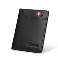 Genuine Leather wallet men Small Mini Ultra thin Compact wallet Cowhide Card Holder Short Design purse New
