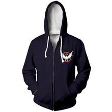 цена на PLstar Cosmos Men/Women Tom Clancys The Division 2 3d Zip Hoodies SHD Hoody Sweatshirt Zip Up Casual Jacket Sportswear Pullover