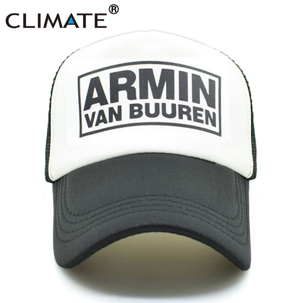 CLIMATE DJ Armin Van Buuren DJ Fans Trucker Mesh Cool Caps Together In A State of Trance Cap Women Men Music DJ Fans Cap Hat climate men women summer cool mesh cap remix music dj hardwell on air fans cool baseball mesh summer net trucker caps hat fans