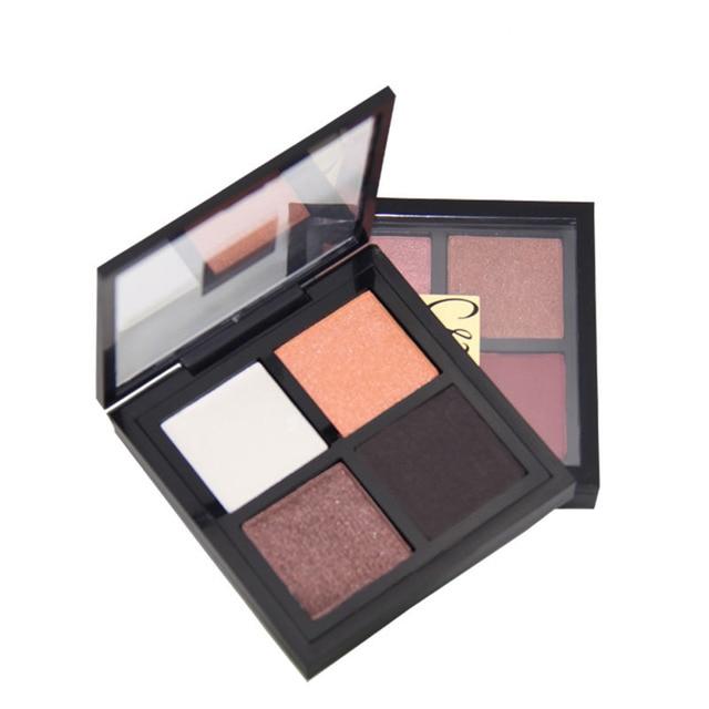 МК 4 цвета Макияж Палитра теней Glamorous Smokey Eye Shadow Shimmer матовая Пигмент Блеск Цвета длительный косметика