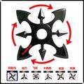Naruto shuriken rotativo, dardos de rotação do rolamento, cos adereços, Anime arma modelo brinquedos, faca de brinquedo, presentes para as crianças.