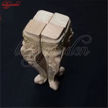 1PC Wood Carved Onlay Applique Carpenter Decal Wood Working Carpenter Table Leg Wood Applique Decor Cabinet Furniture Figurines
