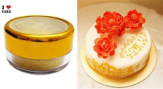 3g dor sucre naturel pigment colorant alimentaire clat nacr revtement wilton fondant gteau dcoration - Colorant Naturel Alimentaire