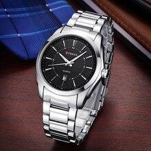 Venta caliente Del Reloj de Los Hombres Reloj de Acero Completa Relojes de Pulsera Reloj Relógio masculino Relojes Moda Y Casual Reloj de pulsera de Cuarzo Nuevo 2016