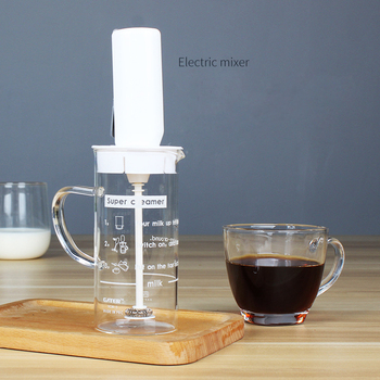 Batidor De Leche Eléctrico Batidor De Leche De Mano Mezclador De Cocina Para Cappuccino Café Batidor De Huevos Bebidas Licuadora Con Taza