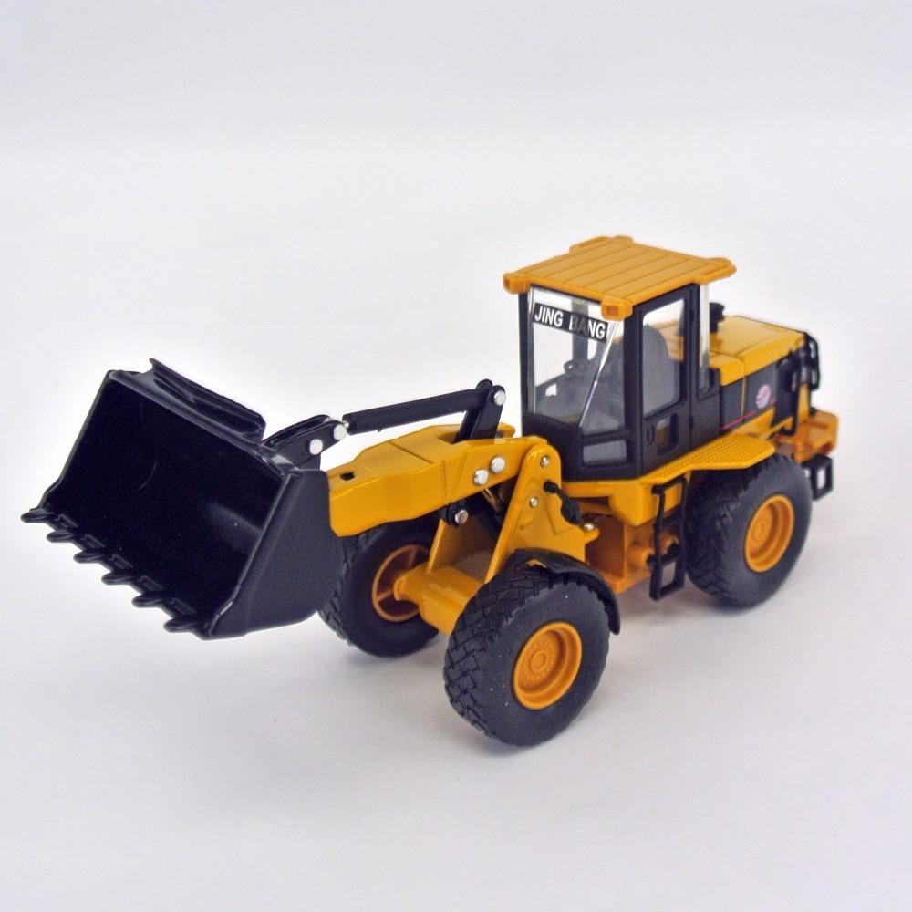 Jing bang 1 60 loader forklift truck model of excavator truck mixer alloy children s toy