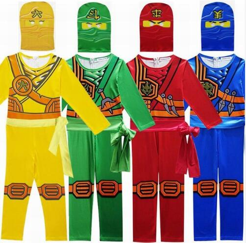 Children Clothing Sets Ninjago Halloween Cosplay Costumes For Boys Girls Streetwear Kids Ninja birthday party Carnival Clothes