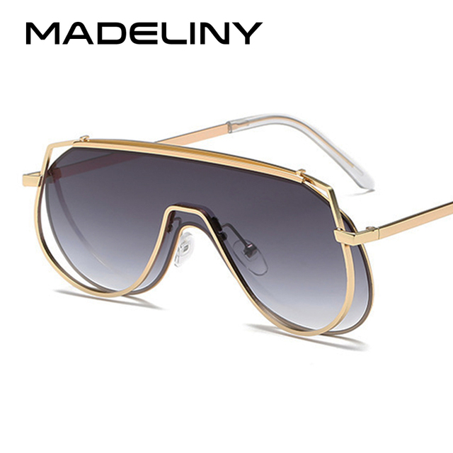 857d9ba8b6 MADELINY Metal Frame Women Cat Eye Sunglasses 2018 Classic Men Summer Style  Pink Yellow Black Sun Glasses Shades MA123