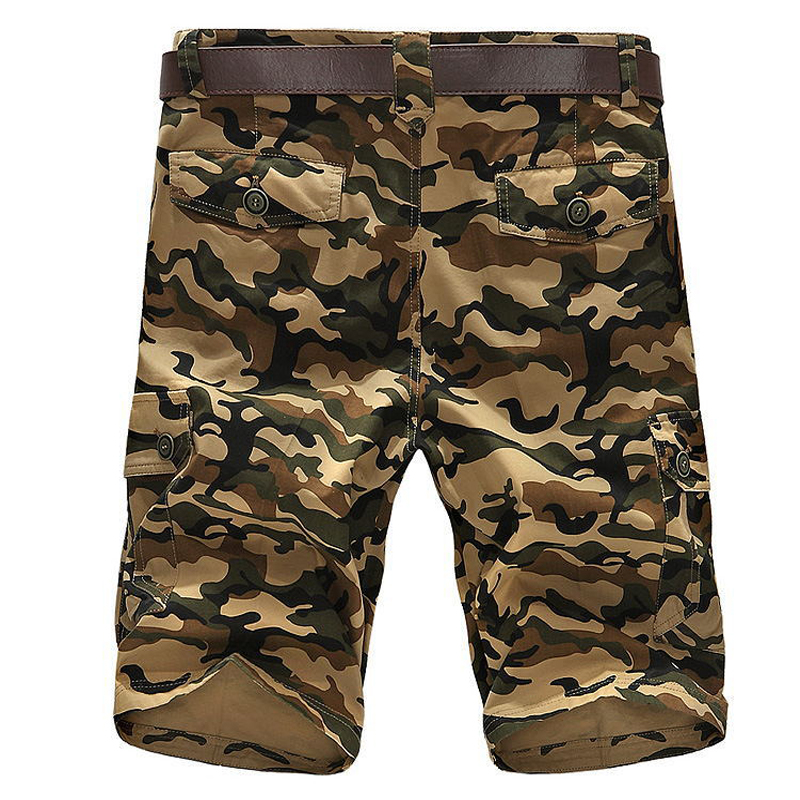 Summer Camouflage Cargo Short Men Casual Short Regular Pockets Military Trousers Pants No Belt 4XL men casual shorts 2018