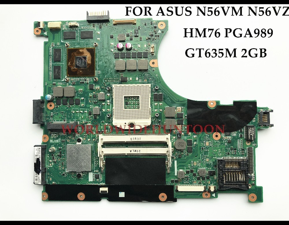 High quality for ASUS N56VM N56VZ Laptop Motherboard REV2.3 HM76 PGA989 DDR3 GT635M 2GB 100% Fully Tested 683495 001 for hp probook 4540s 4441 laptop motherboard pga989 hm76 ddr3 tested working