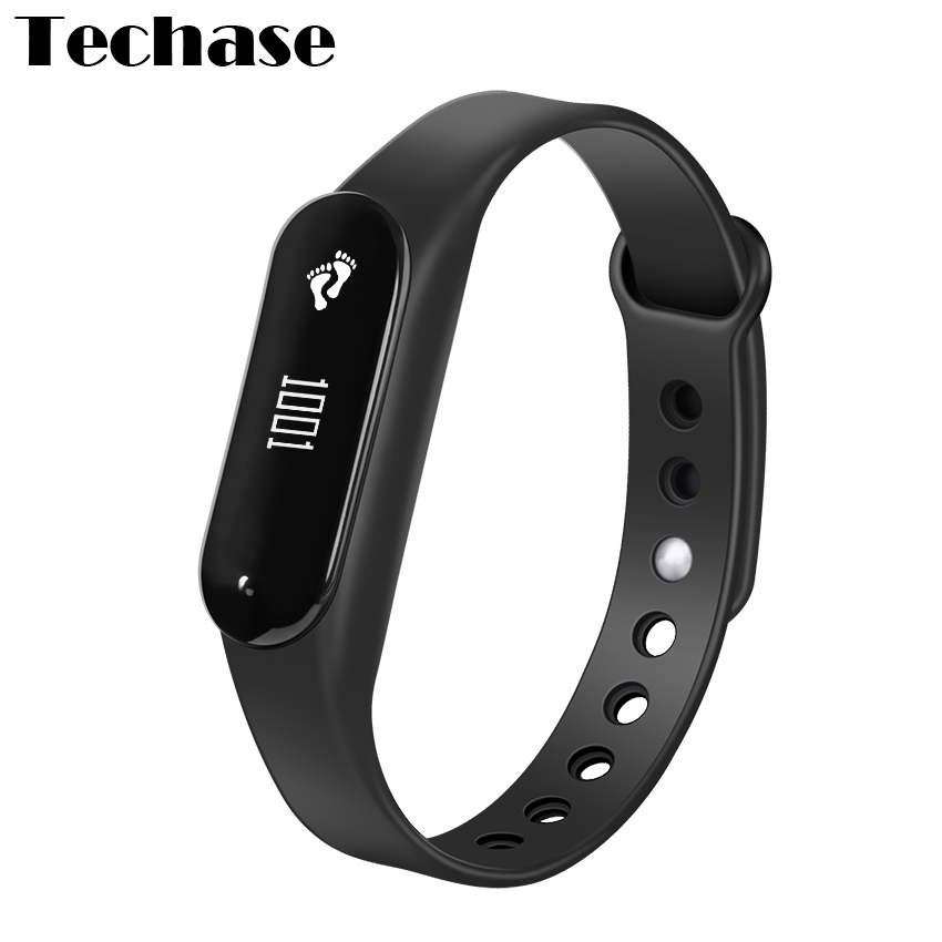 Techase C6 Pulsometer Bluetooth Sports Rastreador Heart Rate Monitor Cicret Bracelet PK Miband Activity Tracker Touch